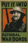 Put it into national war bonds. Vintage WW1 Poster.
